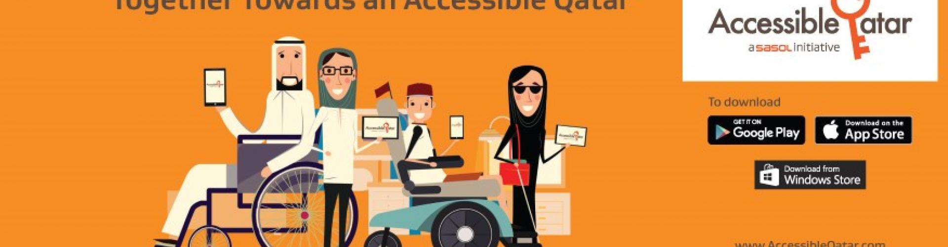 Accessible Qatar mobile app and website, provide you with the accessibility information of public venues in Qatar depending on your disability