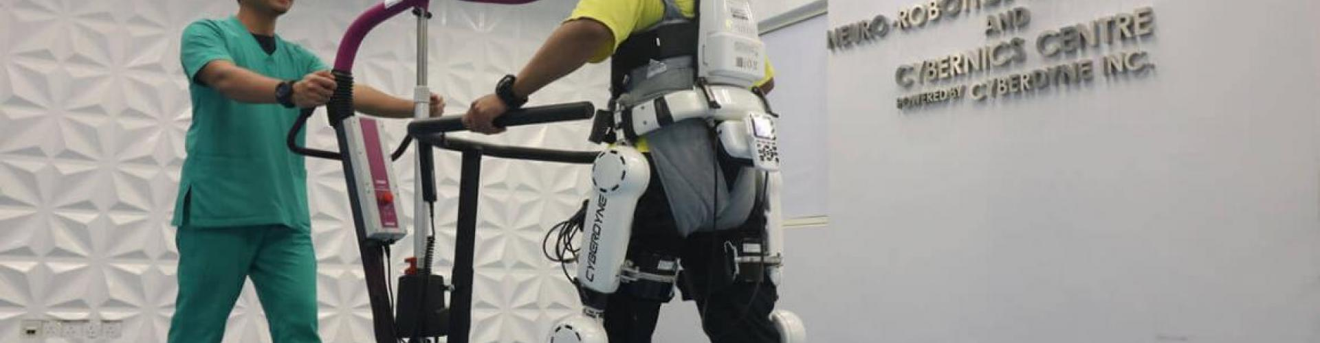 Cyberdine technology (Robot Suit HAL®- Hybrid Assistive Limb) is used for rehabilitation of paralyzed limbs at SOCSO's Tun Razak Rehabilitation Centre.