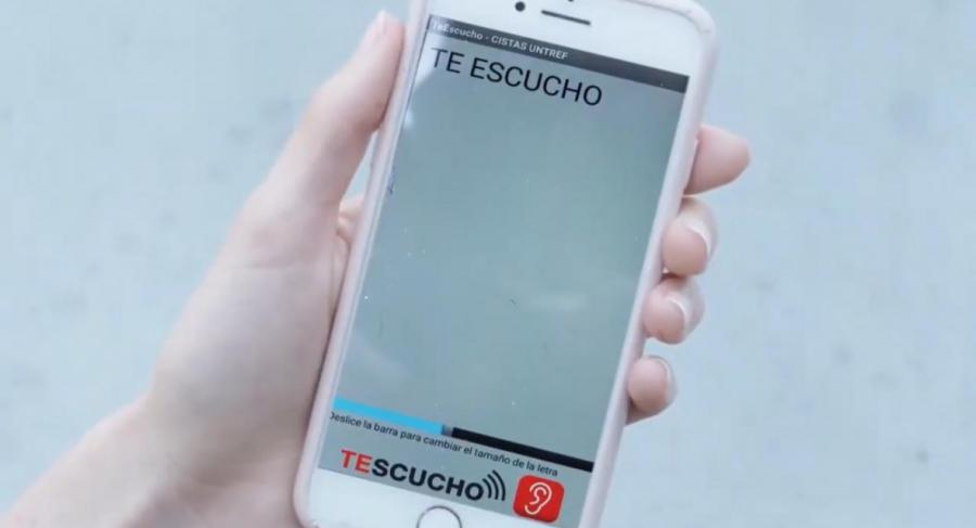 TESCUCHO - Application intuitive et conviviale