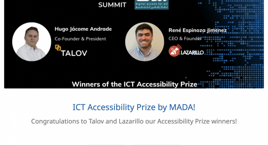Winners of Seedstars - MADA ICT Accessibility Prize