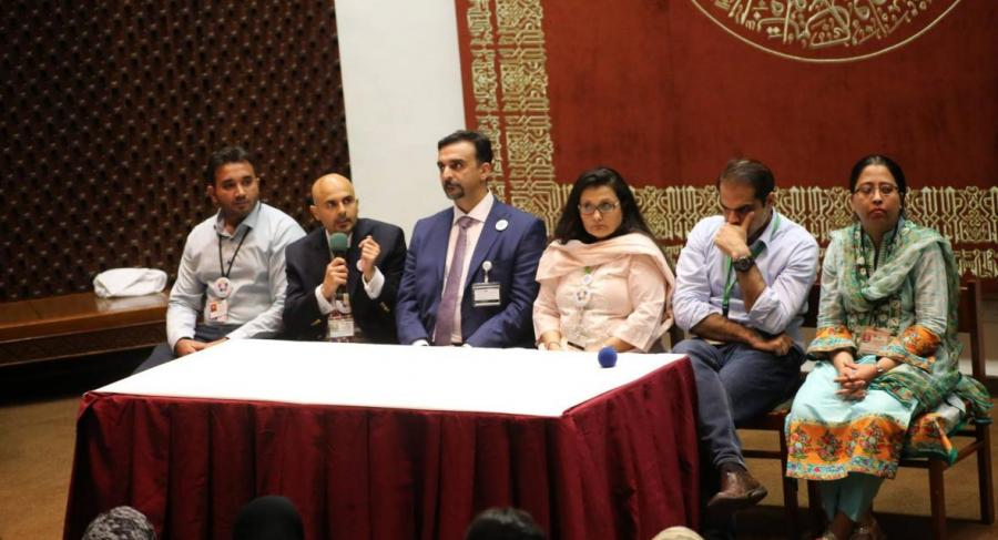 Panel of pediatric specialists at the launching ceremony of the Down Syndrome Clinic with Aga Khan University Hospital (AKUH)