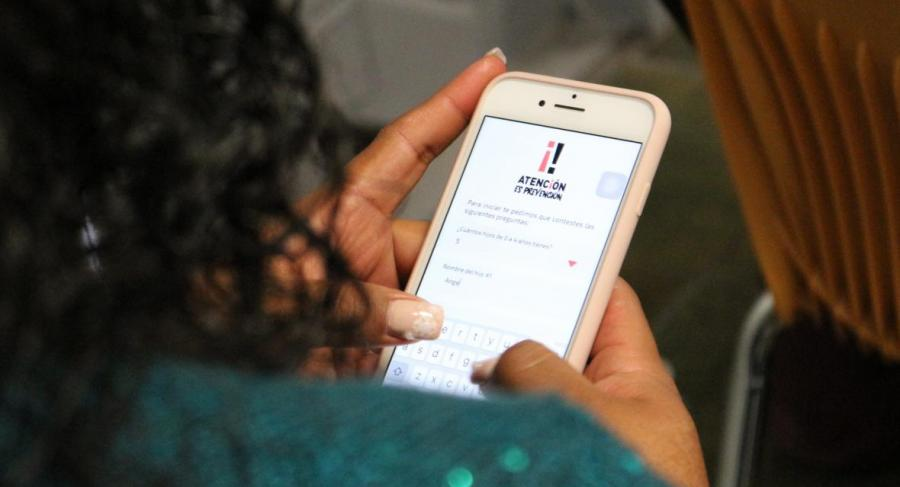 A person registers to begin using APAC's mobile application