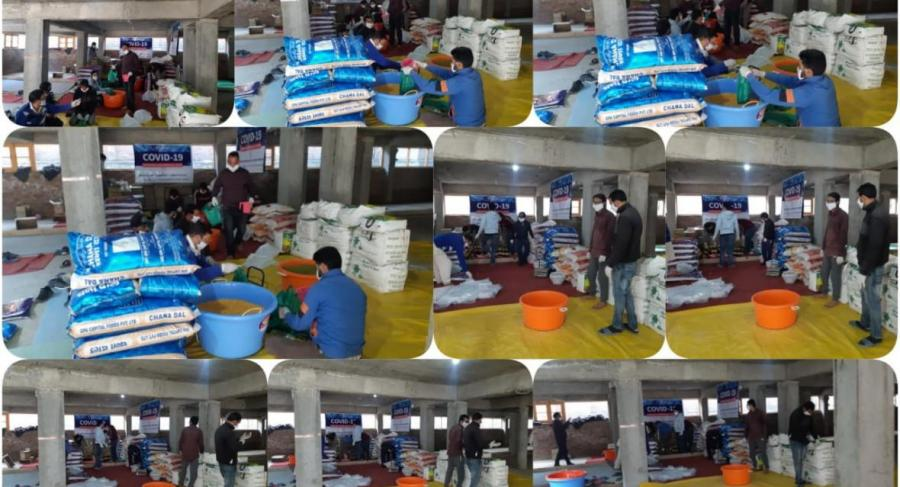 Covid Relief Distribution at HUmanity Welfare Organisation HELPline