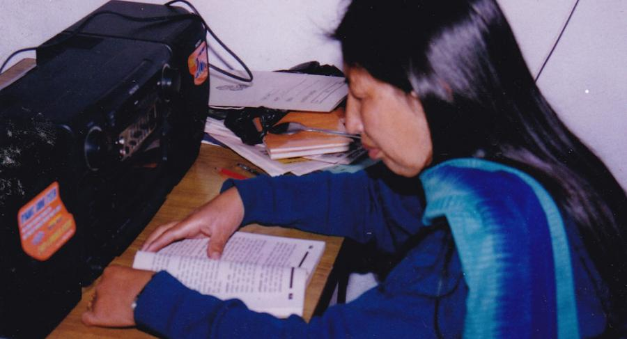 Talking book production by NAB in 2000 in analog system before the introduction of DAISY