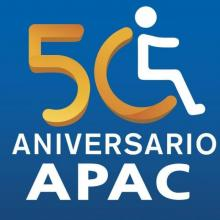 "Logo of organization. Reads ""APAC 50th Anniversary"""